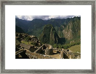 Inca Ruins At Machu Picchu Are Biggest Framed Print by Gordon Wiltsie