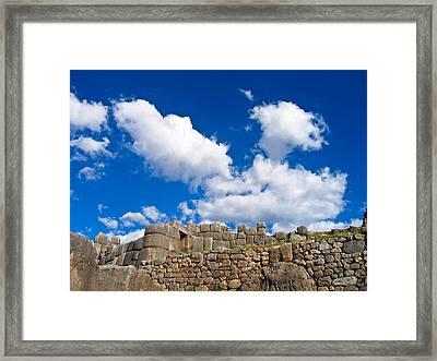 Inca Ruins Framed Print
