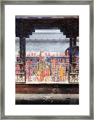 Incense Sticks Framed Print