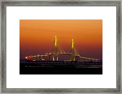 Incheon Bridge, Korea Framed Print