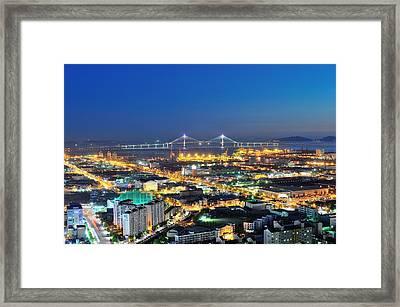 Incheon City Framed Print