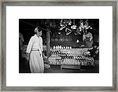 Inchon Shoe Store 1955 Framed Print by Dale Stillman