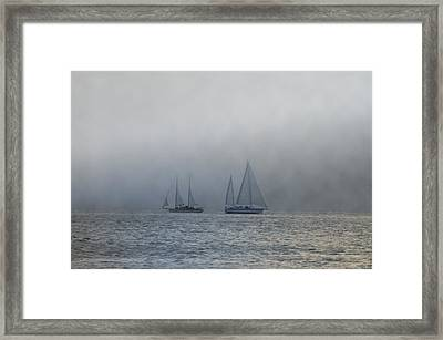 Incoming Fog Bank Framed Print by Bill Cannon