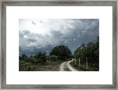 Incoming Framed Print by Kelly Kitchens