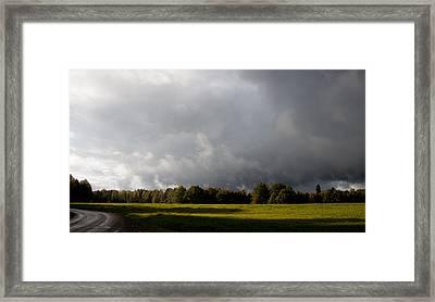 Incoming Rain Framed Print