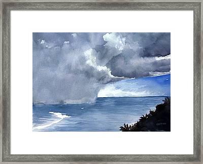 Incoming Squall Framed Print by Jon Shepodd