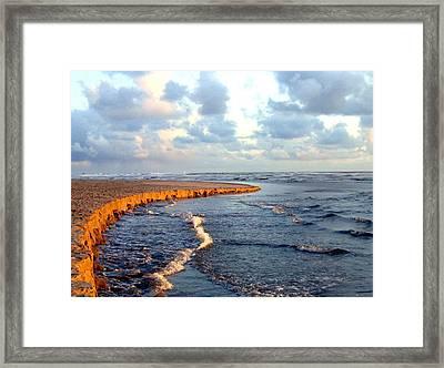 Incoming Tide At Sundown Framed Print by Will Borden