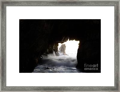 Incoming Tide Big Sur Framed Print by Bob Christopher