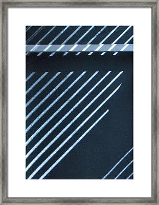 Incomplete Lines Framed Print