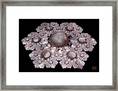 Incompleteness - A Fractal Artifact Framed Print by Manny Lorenzo