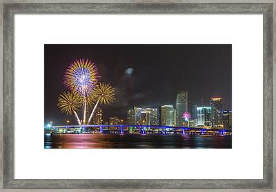 Independece Day Fireworks Framed Print by Claudia Domenig