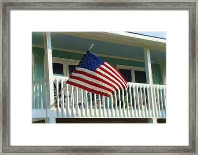 Independence Day At Topsail Island Framed Print by Joe Byrd