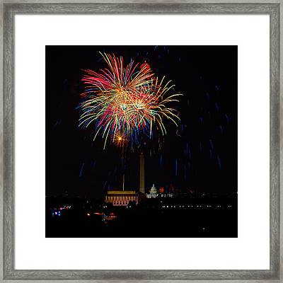 Independence Day In Dc 2 Framed Print by David Hahn