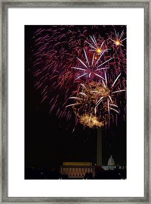 Independence Day In Dc 4 Framed Print by David Hahn