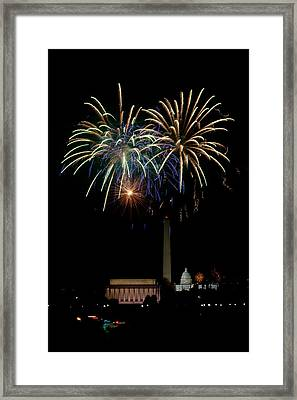 Independence Day In Dc Framed Print by David Hahn