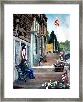 Independence Day Framed Print by Rebecca Grice