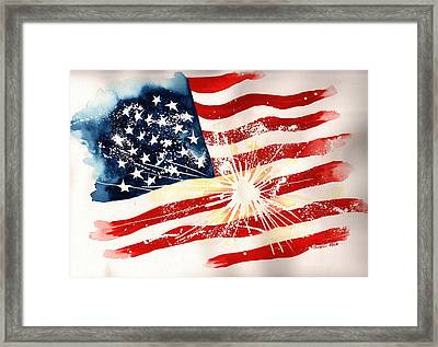 Independence Day Framed Print by Sharon Mick