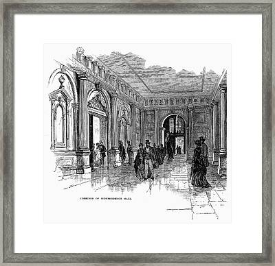 Independence Hall, C1876 Framed Print by Granger