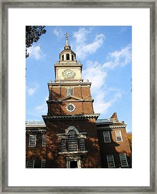 Independence Hall Framed Print by Rick Thiemke