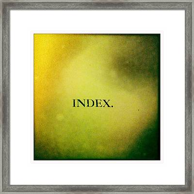 Index Framed Print by Betse Ellis