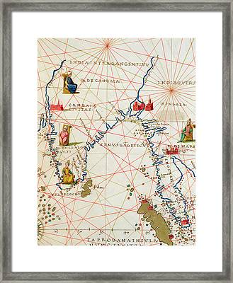 India And Malaysia Framed Print by Battista Agnese