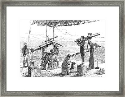 India Eclipse Expedition, 1872 Framed Print by Science Source