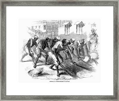 India: Street Sweepers Framed Print by Granger