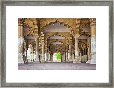 India, Uttar Pradesh, Agra, Agra Fort, Hall Of Public Audience Framed Print
