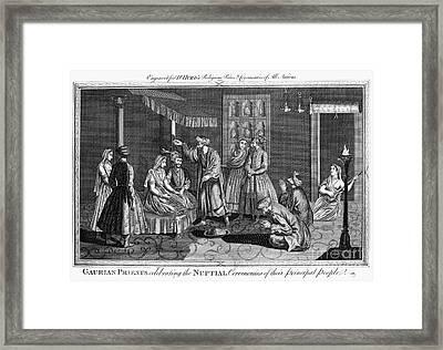India: Wedding, 1780s Framed Print by Granger