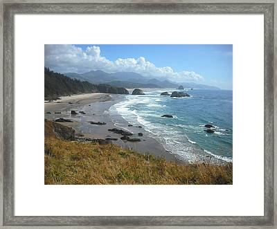 Indian Beach Ecola State Park Framed Print