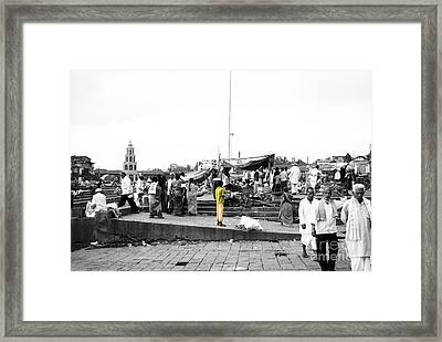 Indian Boy In Village Framed Print by Sumit Mehndiratta