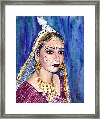 Indian Bride  Framed Print by Clara Sue Beym
