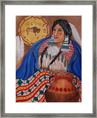 Indian Bride Framed Print by Janna Columbus