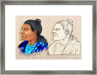 Indian Chiefs Framed Print by Vidka Art