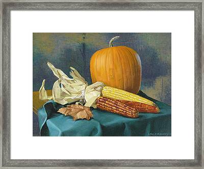 Indian Corn And . . . Framed Print by Glen Heberling