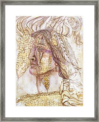 Indian Corn Framed Print