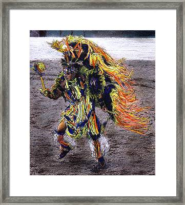 Indian Dancer Framed Print by Randy Sprout