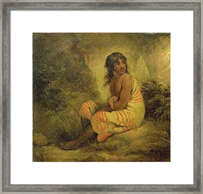 Indian Girl Framed Print by George Morland