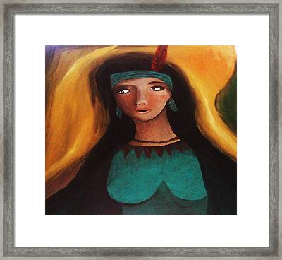 Indian Girlfriend Framed Print by Vickie Meza