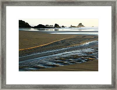 Indian Gold Stream Framed Print by Steven A Bash
