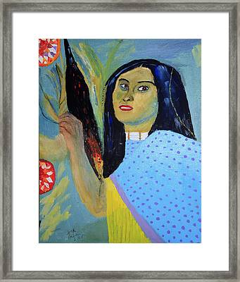 Indian Maiden Framed Print