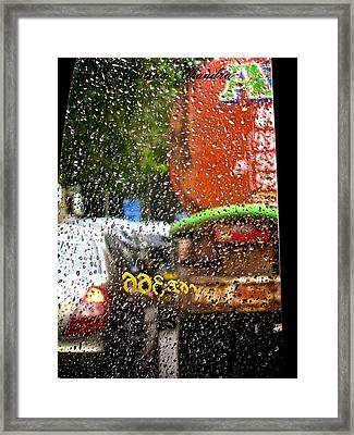 Indian Monsoon Framed Print by Jyotsna Chandra
