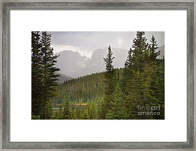 Indian Peaks Colorado Rocky Mountain Rainy View Framed Print