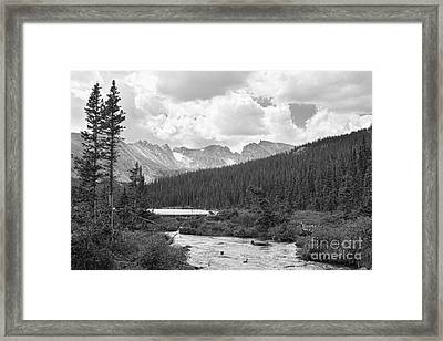 Indian Peaks Summer Day Bw Framed Print by James BO  Insogna
