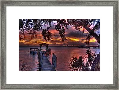 Indian River Sunset Framed Print by Lisa Goddard
