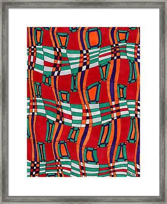 Indian Silk Framed Print
