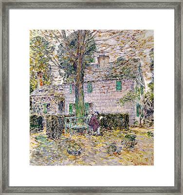Indian Summer In Colonial Days Framed Print by Childe Hassam