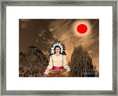 Sitting Bull Framed Print by Belinda Threeths