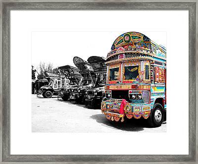 Indian Truck Framed Print