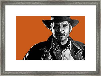 Indiana Jones Art Signed Prints Available At Laartwork.com Coupon Code Kodak Framed Print by Leon Jimenez